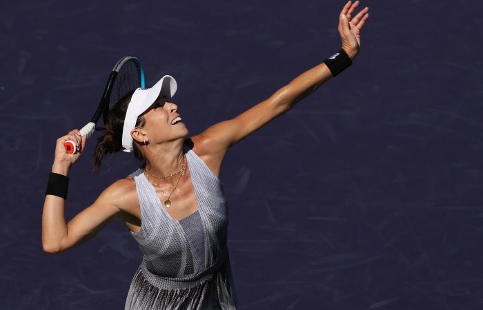 Ajla Tomljanovic in action at Indian Wells. Picture: Getty Images