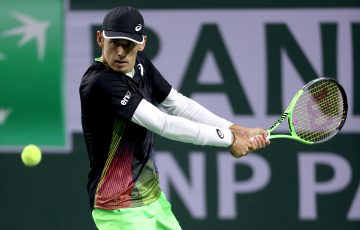 Alex de Minaur in action at Indian Wells. Picture: Getty Images