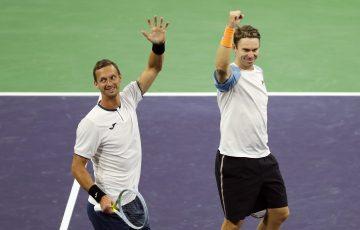 CHAMPIONS: Filip Polasek and John Peers. Picture: Indian Wells